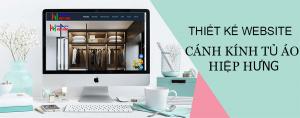 Thiết kế website cánh kính tủ áo Hiệp Hưng