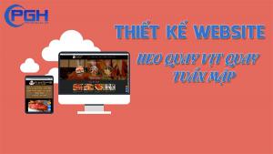 Thiết kế Website heo quay vịt quay Tuấn Mập