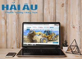 Thiết kế website kinh doanh xe công trình Hải Âu