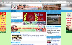 Xây dựng website trường THPT Chuyên Bảo Lộc - Lâm Đồng